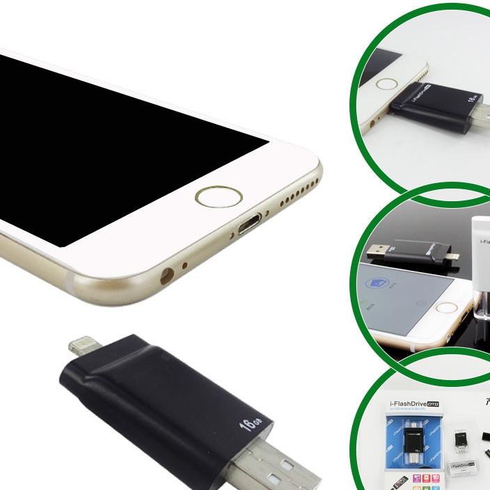 苹果三星OTG扩展读卡器i-easyDrive读卡器USB接口外置64GBU盘现货