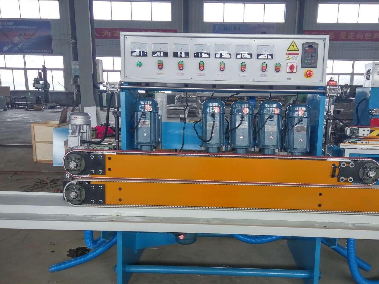 小型自动钢化玻璃直线圆边机 6磨头高精度全新磨边机定制厂家