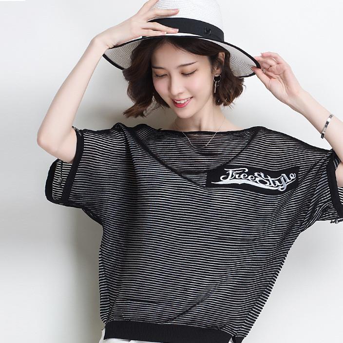 2018夏季新款女装舒适百搭韩版短袖宽松显瘦T恤薄款上衣女潮