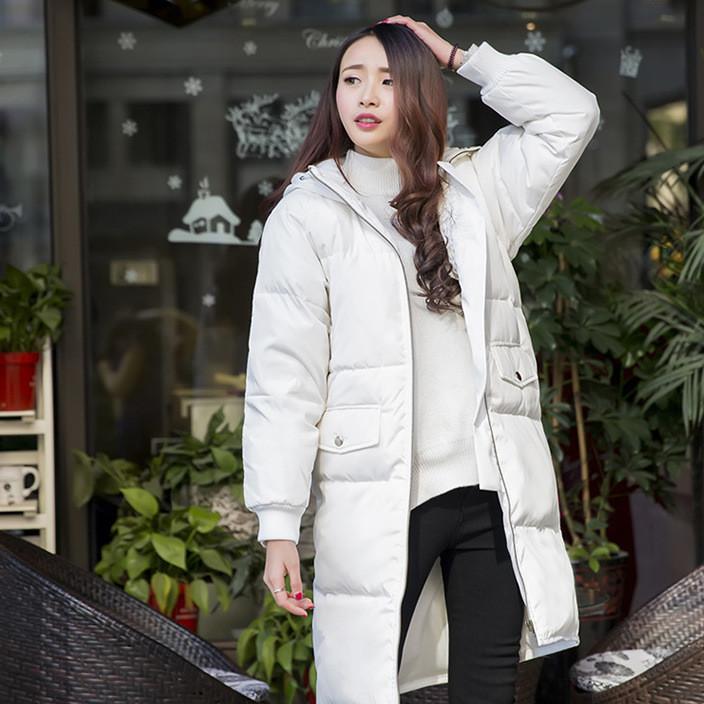 2017女装冬装新款韩版中长款羽绒服男女大码情侣装女士
