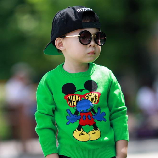 男童毛衣针织衫套头纯手工编织儿童毛衣男孩打底衫1-2-3-4-5-6岁