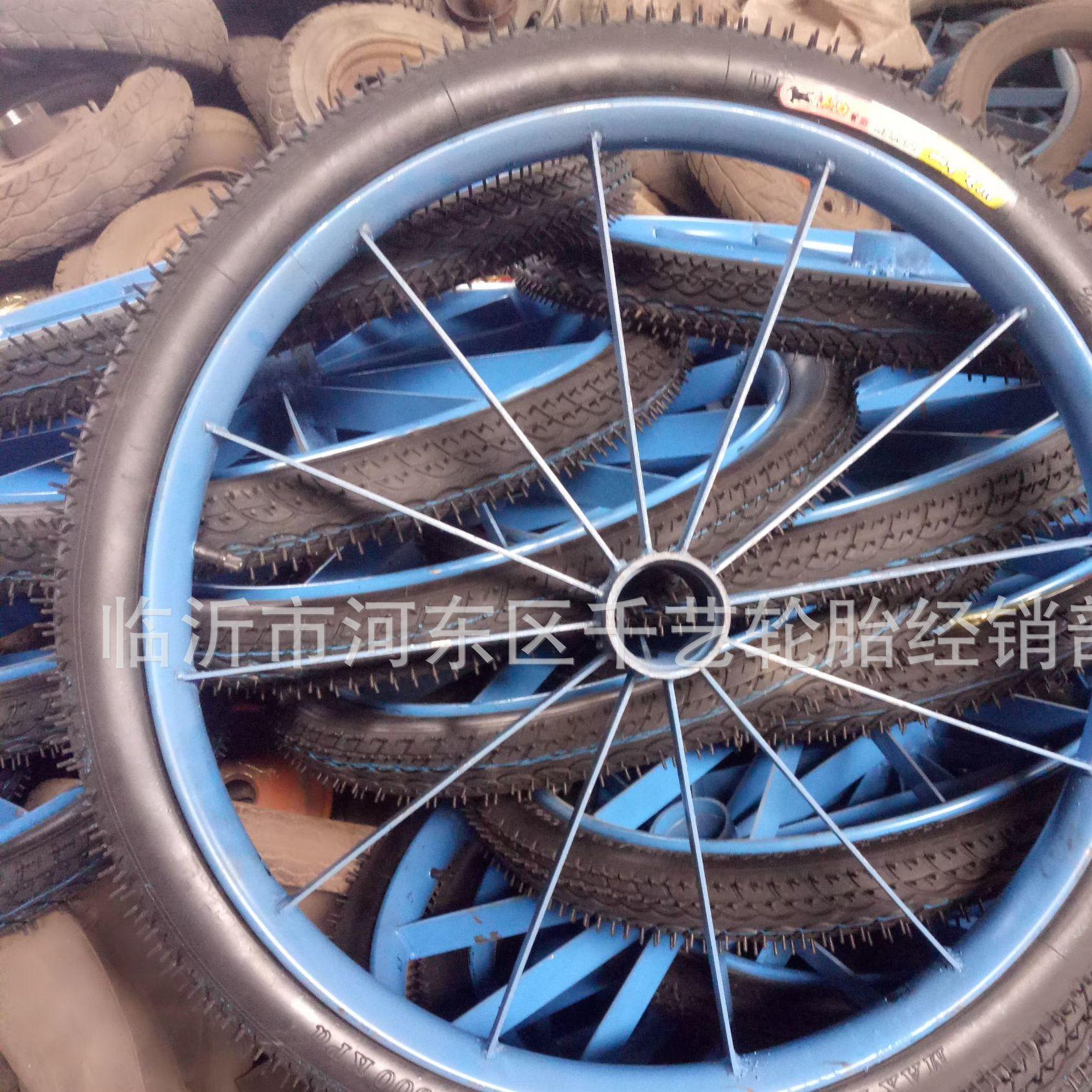 厂家直销26 1/2力车轮 12根扁条加重 充气型 马车轮 力车轮