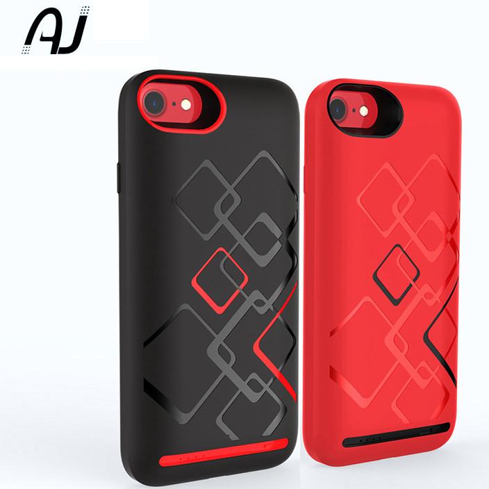 iphone7大容量软胶充电宝手机壳背冲中国红 苹果567通用背夹电池