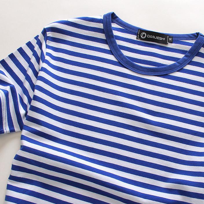 夏季新款 海魂衫男士短袖体恤 海军条纹T恤短袖 情侣款