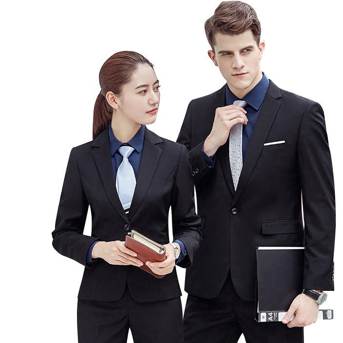 职业装女装男款工作服西装套装女士正装西服套装秋办公室工装