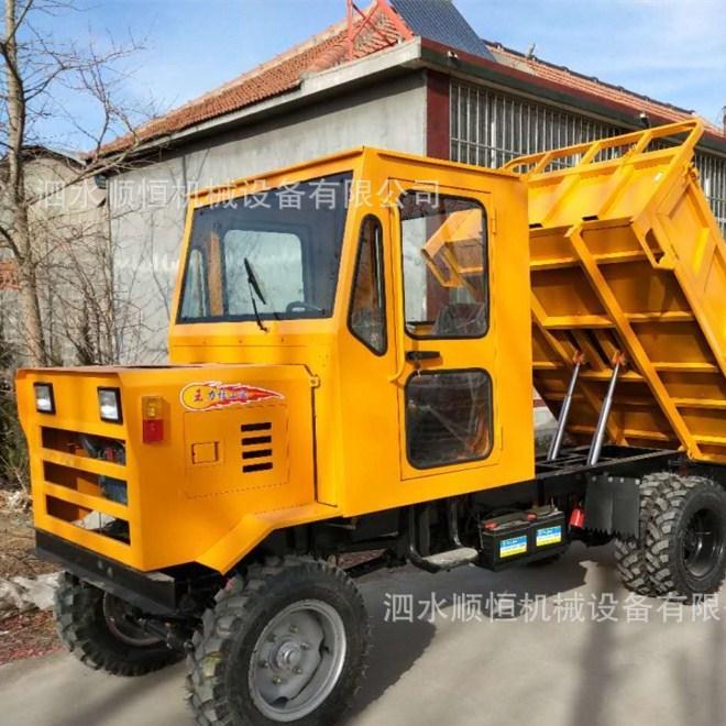 矿用爬山虎四不像运输装载四轮拖拉机 四不像矿用运渣自卸车