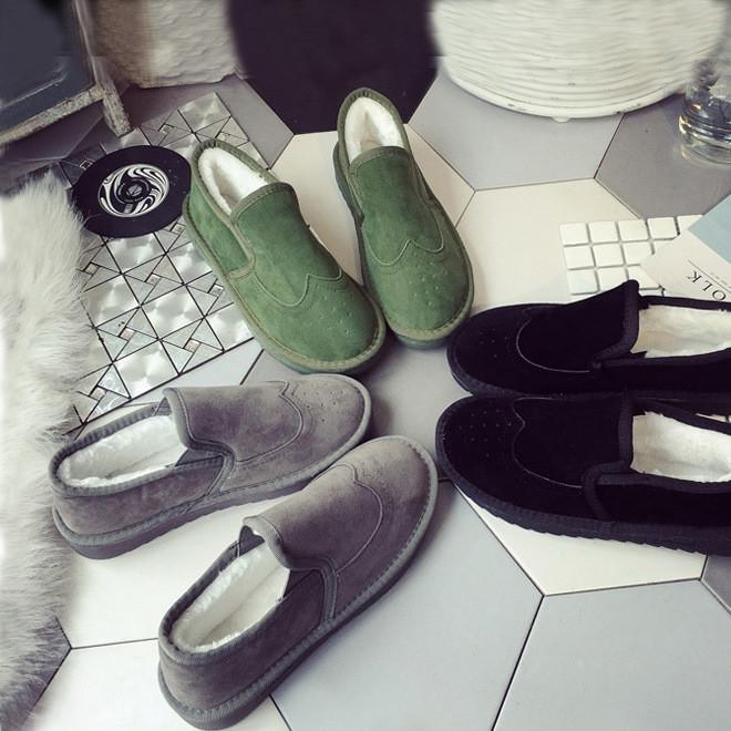 冬季新款女士棉靴 英伦时尚套筒靴子 防滑加绒保暖棉鞋一件代发