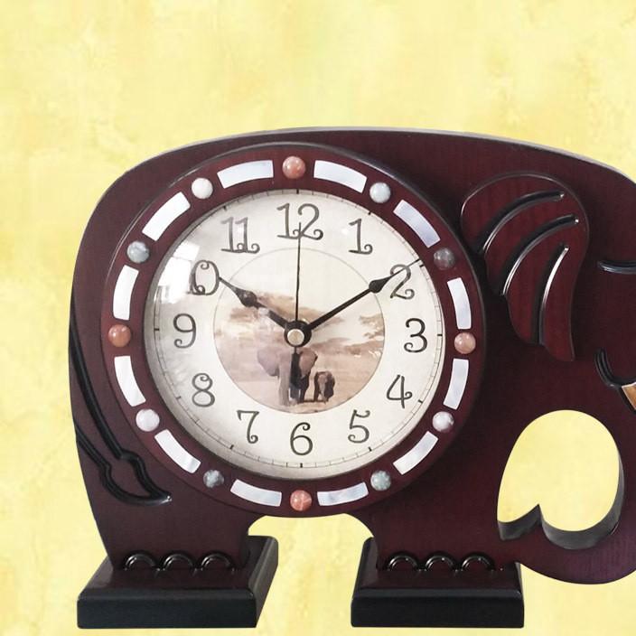 时尚台钟 卧室钟石英钟表复古欧式木质座钟客厅静音钟表
