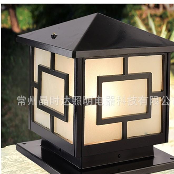 厂家批发柱头灯 LED庭院灯仿古庭院灯灯头 户外景观照明 欢迎选购