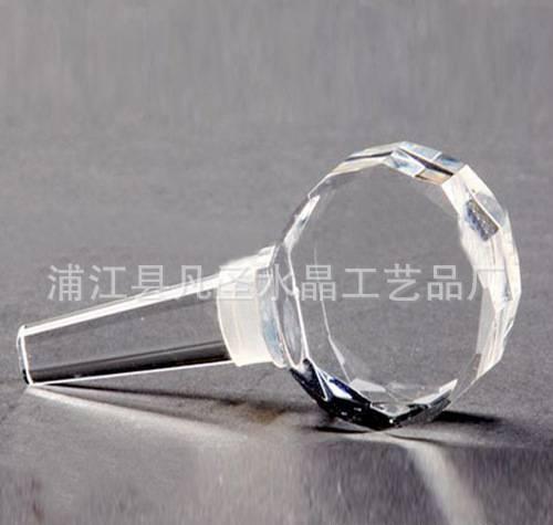 爆款水晶酒瓶塞 水晶工艺品 酒瓶塞 人造水晶工艺品 批发