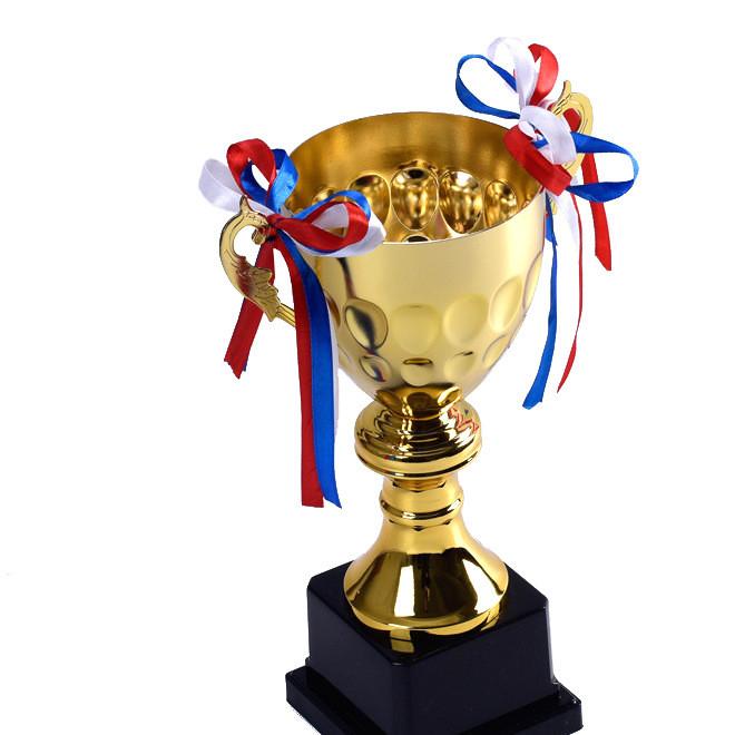 金属奖杯定制批发 足球篮球羽毛球学生竞赛奖杯定制冠亚季军奖杯