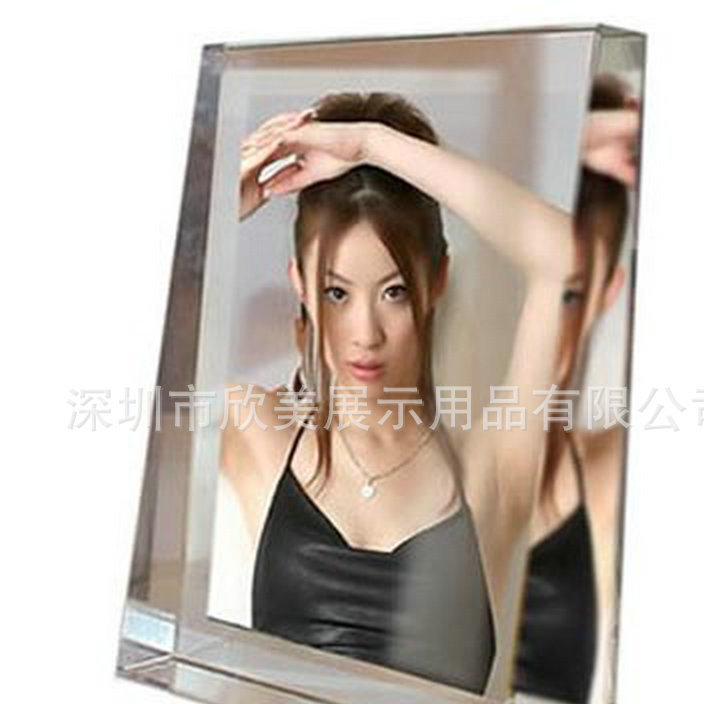 现货热销 双面创意弧形亚克力相框 亚克力磁性相框