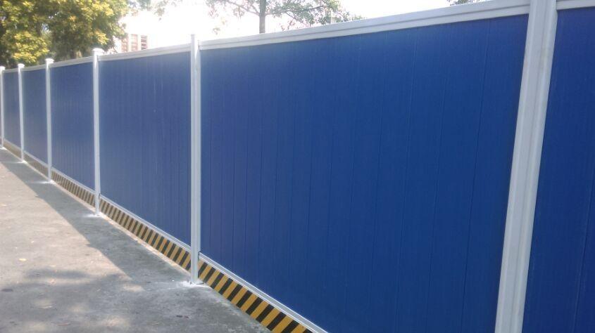 pvc围挡生产厂家 施工安全围壁 塑料工程围挡 市政施工围挡价格