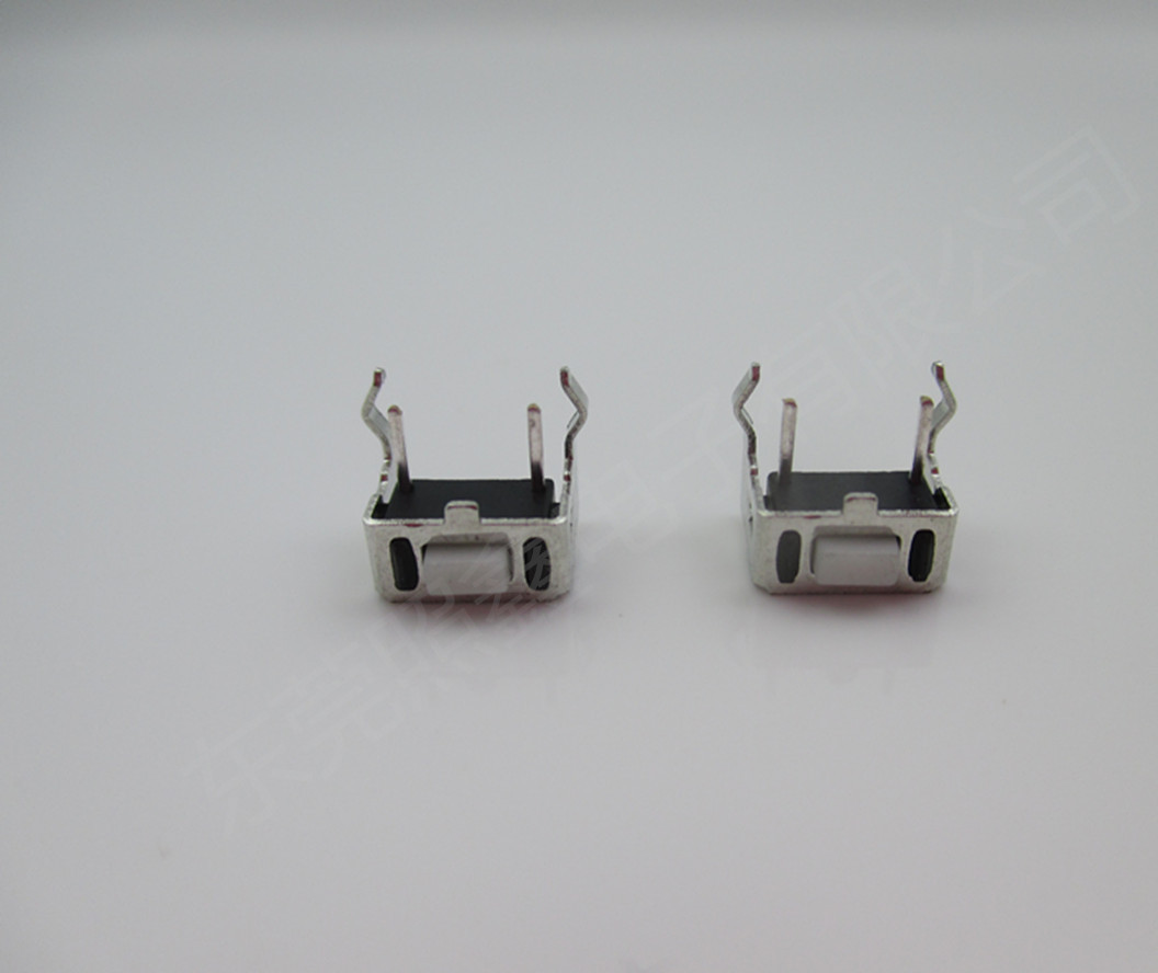 厂家直销环保侧插式带支架轻触开关 364.3插件式