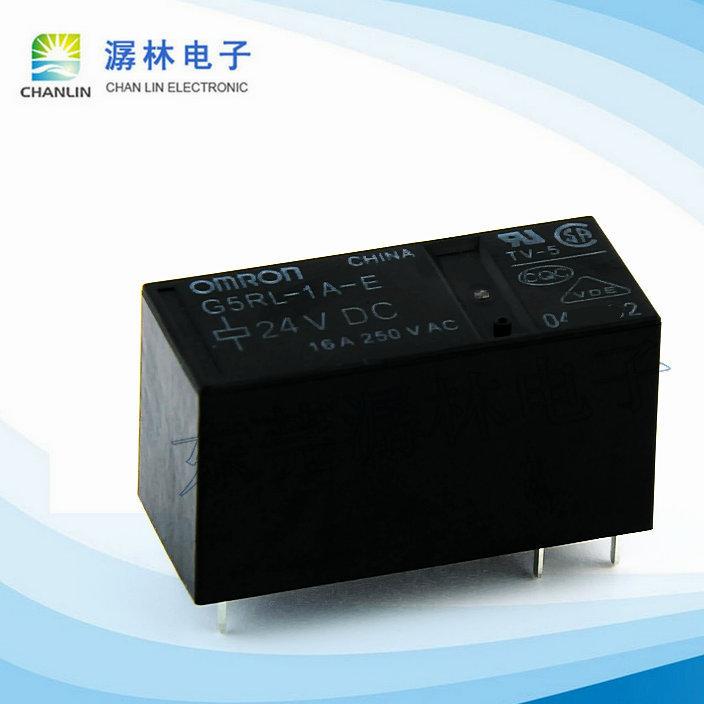 欧姆龙功率继电器G5RL-1A-E DC24V高容量耐助焊剂型空调专用