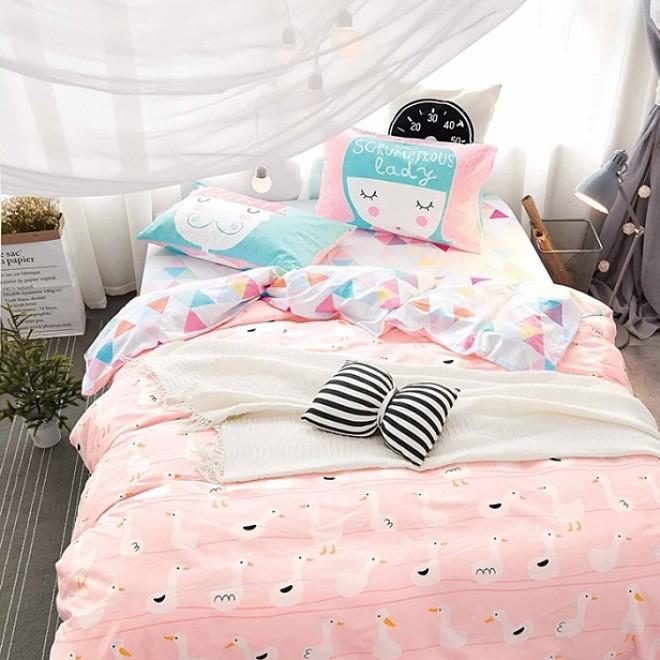 厂家批发 卡通婴幼儿园北欧混搭花色 婴童床品面料全棉斜纹印花布