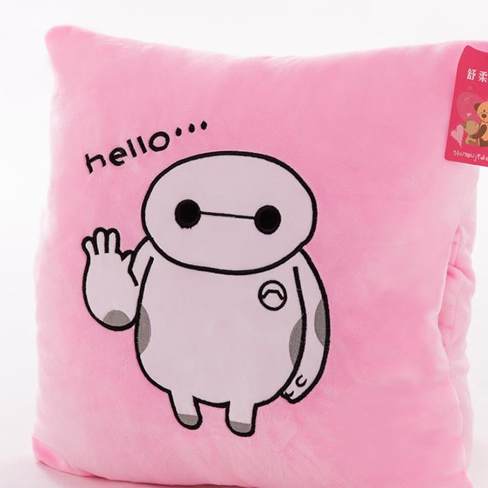 厂家批发供应家纺家居粉大白heiio龙猫坐垫靠垫毛毯三合一餐椅垫