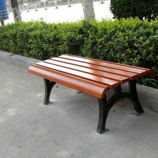 园林休闲椅 公园椅子铸铁防腐木公共长椅凳子室外实木椅户