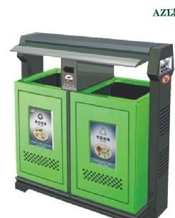 武汉垃圾桶湖北环卫垃圾桶果皮箱钢板分类垃圾桶环保小区双桶