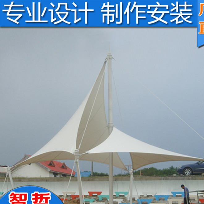 厂家制作室外张拉膜停车场 园林景观张拉膜工程 钢结构遮阳篷