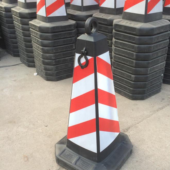 反光路锥警示锥塑料方尖锥禁止停车交通路障设施牌雪糕筒方锥70cm