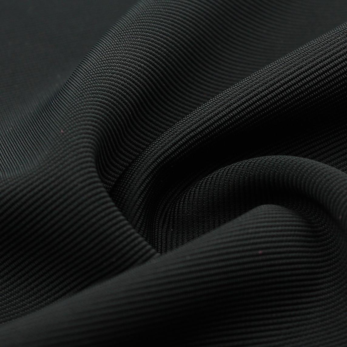 厂家涤氨弹力手套常用布楼梯布320g罗纹横条服装复合袖口领口加厚