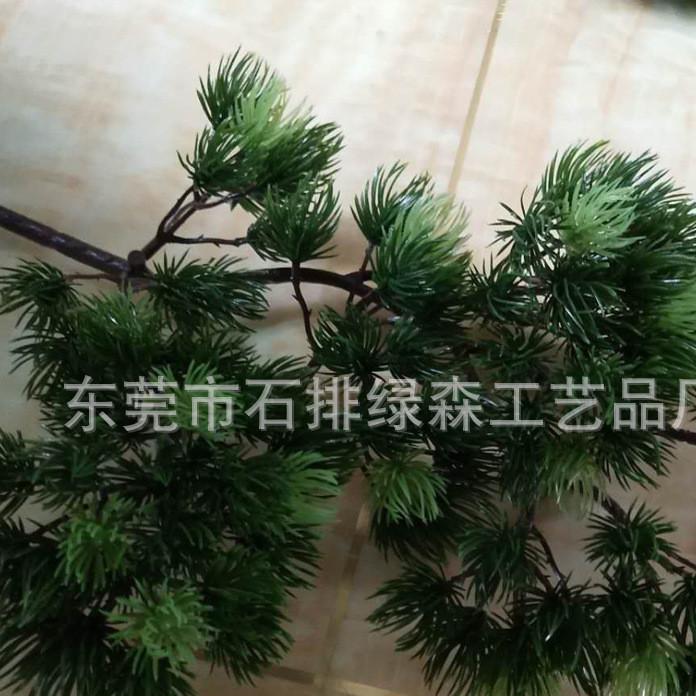 新款上市仿真深浅色迎客松植物 定制仿真绿植高密度浅色假迎客松